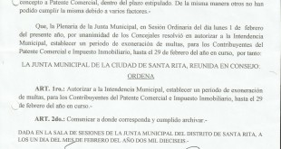 Exoneracion de Multas