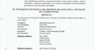 Reconocimiento Comision Casilleros de la Parada