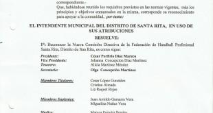 Reconocimiento Federacion de Handball Profesional